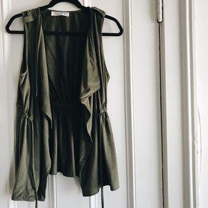 Lela Sky Army Green Vest
